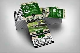 Flyer Ticket Bundle Lawn Care Branding