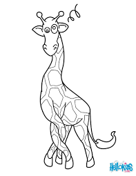 Printable Coloring Pages coloring page giraffe : Giraffe in a twist coloring pages - Hellokids.com