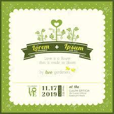 Green Card Template Green Garden Theme Wedding Invitation Card Template Royalty Free