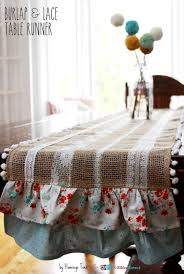 burlap and lace table runner the ribbon retreat blog