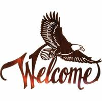 american bald eagle welcome metal wall art on american bald eagle metal wall art with unique collection of cowboy western metal wall art