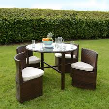brompton extending garden table and 6 folding chairs set view larger