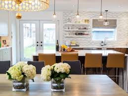 Eat in kitchen lighting Kitchen Ideas Bright Eat In Kitchen And Dining Room Featuring Gray And White Backsplash Mustard Yellow Bar Calmbizcom Basic Types Of Lighting Hgtv