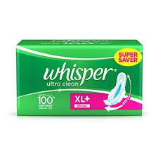 Whisper Ultra Plus Sanitary Pads Xl Plus 30 Count