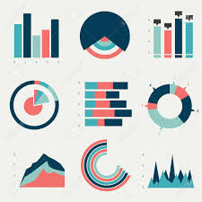 Flat Charts Graphs Vector Design