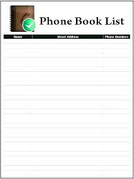 Address Book Printable Template Address Book Pages Template