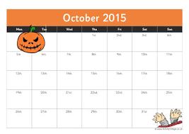 Free Printable October 2015 Calendar Clipart Clipground