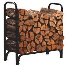 com panacea 15203 deluxe outdoor log rack black 4 feet outdoor firewood racks garden outdoor