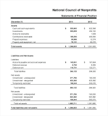 Financial Statements Format Templates 8 Financial Statement Samples Examples Templates Sample Templates
