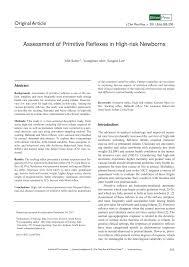 Primitive Reflexes Chart Pdf Assessment Of Primitive Reflexes In High Risk Newborns