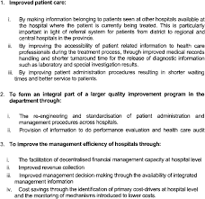 Objectives Of The Hospital Information System Download