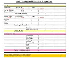 vacation budget template affordable disney vacation planning worksheets the affordable mouse
