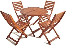 Choose from a large inventory of some of the finest rustic wood folding chair available, with various designs and customizing options. Garden Patio Furniture Vonhaus 4 Seater Wooden Dining Set Rustic Table And Folding Chairs Patio Garden Kisetsu System Co Jp