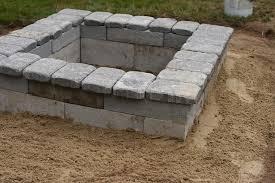 diy fire pit diy cinder block