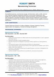 manufacturing resume sample manufacturing technician resume samples qwikresume