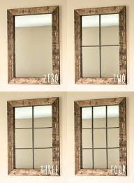 rustic window pane mirror to amazing rustic window frame wall decor