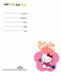 hello kitty party ideas printables living locurto kittyinvite