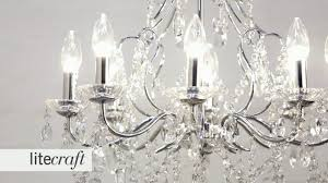 annalee led 8 light chrome bathroom chandelier litecraft lighting your home