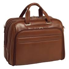 springfield leather fly through checkpoint friendly 17 inch laptop case brown