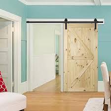 diy sliding barn doors. Simple Doors BELLEZE Natural Wood Pine Unfinished DIY Sliding Barn Door  42u0026quot X 84u0026quot For Diy Doors