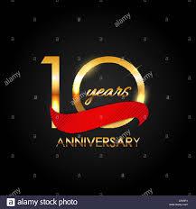 Anniversary Template Template 10 Years Anniversary Vector Illustration Stock Vector Art