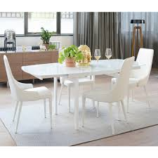 lexington extending 4 6 seater dining table white glass