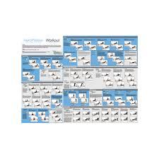Pilates Reformer Workout Chart Aeropilates Workout Wall Chart