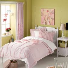 stylish light pink bedding and curtains for girls room