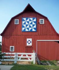 278 best Barns Quilted images on Pinterest | Architecture ... & Quilt Barn - Photo by Helen Parker Pattern: Hunter Star (large) and Ohio  Star (small) Location: Moweaqua - 2479 E. Adamdwight.com