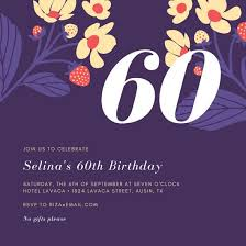 60 birthday invitations 60th birthday invitation templates canva