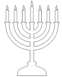 Small Picture Menorah with no candles clipart collection