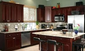 kitchen cherry cabinets dark kitchens with cherry cabinets photos cherry kitchen cabinets with white quartz countertops