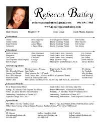 Acting Resume Template Format Actors All Best Cv Resume Ideas
