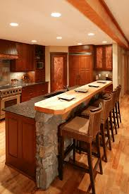 Kitchen Designs With 2 Islands Rustic 2 Tier Kitchen Island With Breakfast Bar And Granite