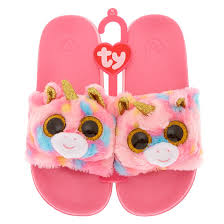 Beanie Boo Slippers Size Chart Ty Beanie Boo Fantasia The Unicorn Pool Slides