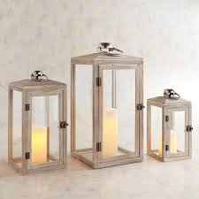 gray wood lantern from pier1 wood lanterns for indoor or outdoor diy and