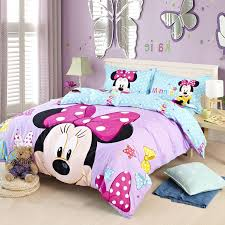 purple blue stars full and queen size cotton minnie mouse head throughout disney comforter sets design 4