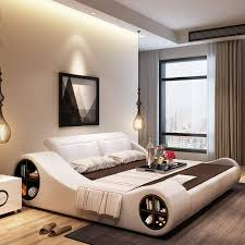 US $989.0 |180cmX200cm 2017 modern designer white leather soft double bedroom furniture with storage-in Bedroom Sets from Furniture on Aliexpress.com ...