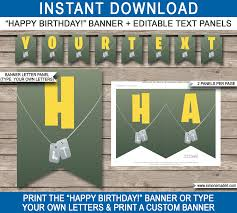 happy birthday customized banners fortnite pennant banner template