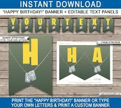printable fortnite pennant banner template fornite theme happy birthday banner custom banner diy