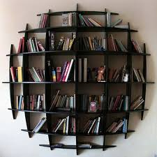 ... Full size of Unique black wooden wall display bookcase timber open  bookshelf with dark glossy finish  Furniture ...