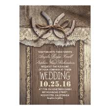 Burlap And Lace Wedding Invitations Rustic Country Horseshoes And Burlap Lace Wedding Invitation