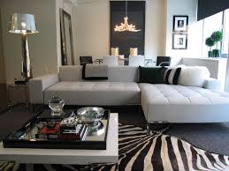 Zebra Rug Living Room Zebra Chaise Living Room Furniture L Shaped Dark Grey Leather