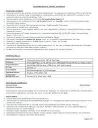 Cognos Fresher Resume Resume Samples Cool Design Executive Template ...