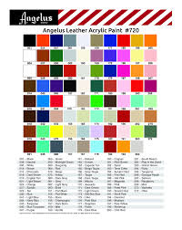 Angelus Color Chart
