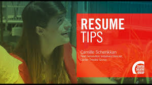 Arts Resumes How To Apply For Jobs Internships In The Arts Resumes