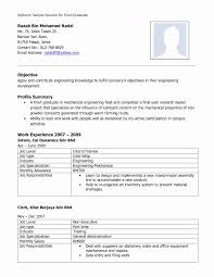 Cool Electronic Resume Format In Fresher Mechanical Engineering