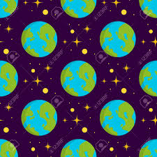 Pattern Universe Custom Solar System Space Planets Galaxy Earth Seamless Pattern Universe