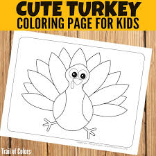 Small Picture Thanksgiving Turkey Coloring page Trail Of Colors