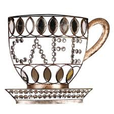 sparkling coffee themed metal wall decoration